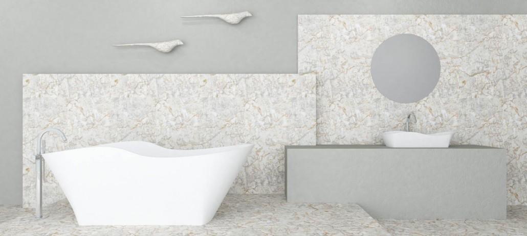 Freestanding Stone cast bath Amida 3d1