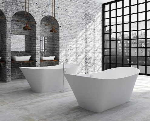 Akmens masas vanna Belisana, Ванна из каменной массы Belisana, Stone cast bathtub Belisana