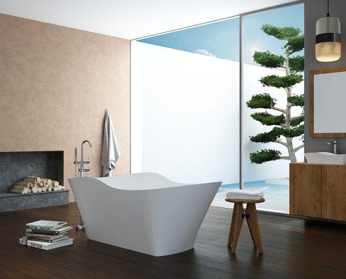 kmens masas vanna Amida, Ванна из каменной массы Amida, Stone cast bathtub Amida
