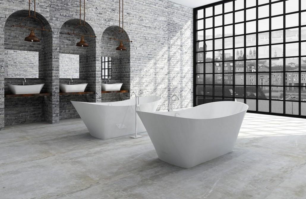 Akmens masas vanna Belisana , Ванна из каменной массы Belisana , Stone cast bathtub Belisana