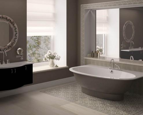 Akmens masas vanna Estia Individual, Ванна из каменной массы Estia Individual, Stone cast bathtub Estia Individual design