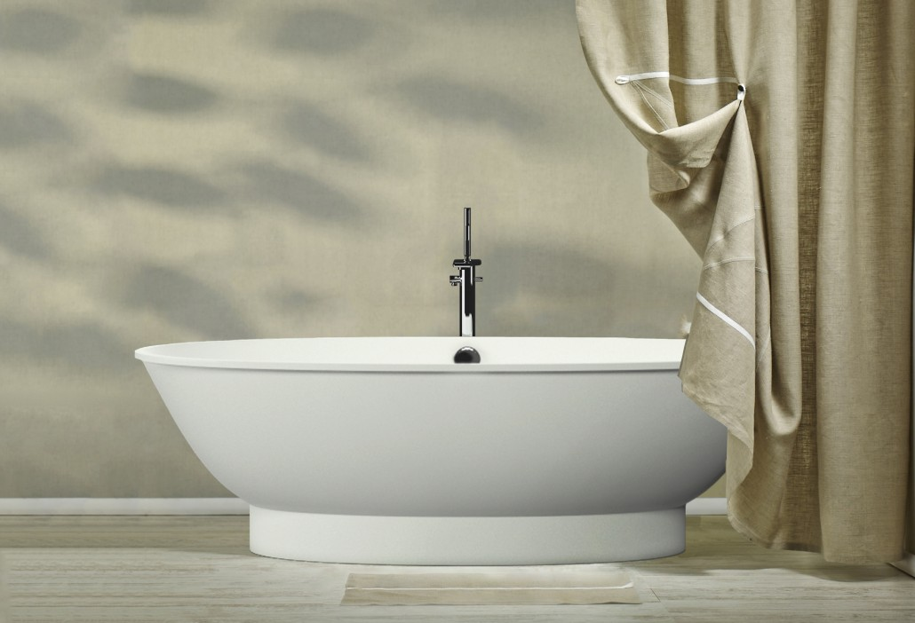 Akmens masas vanna Estia, Ванна из каменной массы Estia, Stone cast bathtub Estia
