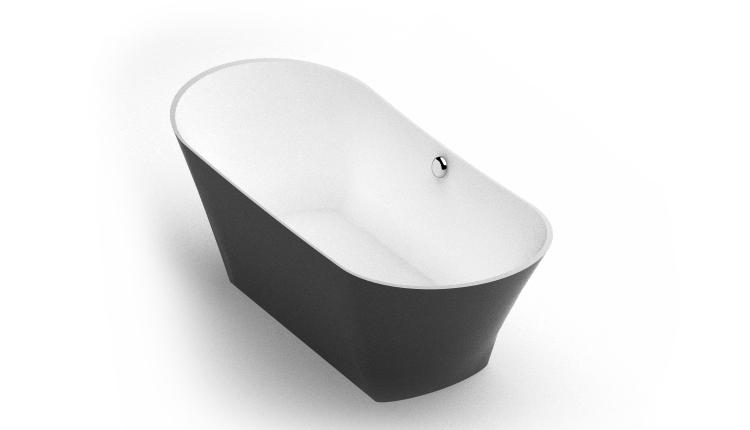 Brīvi stāvoša vanna Belisana, Freestanding bath Belisana bw iso