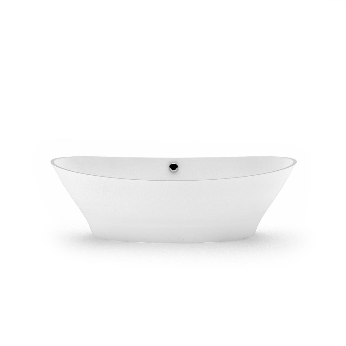 Freestanding bath Demetra - cast stone handmade bathtub by AURA fr