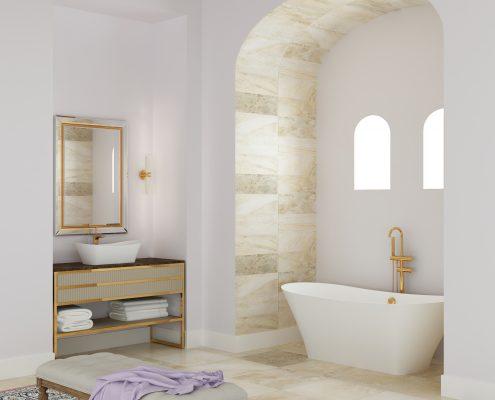 kmens masas Belisana, Ванна из каменной массы Belisana, Stone cast bathtub Belisana