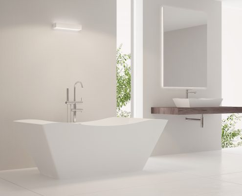 Brīvstāvoša vanna Eudore, Ванна из каменной массы Eudore, Freestanding bath Eudore