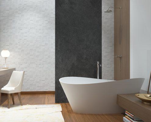 Akmens masas vanna Iside, Ванна из каменной массы Iside, Stone cast bathtub Iside