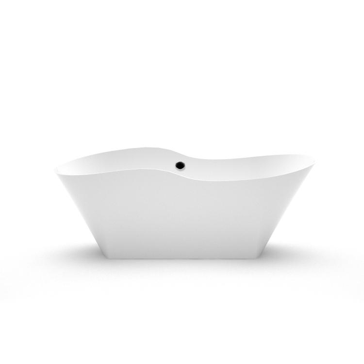 Brīvi stāvoša vanna Amida, Stone cast freestanding bath Amida fr