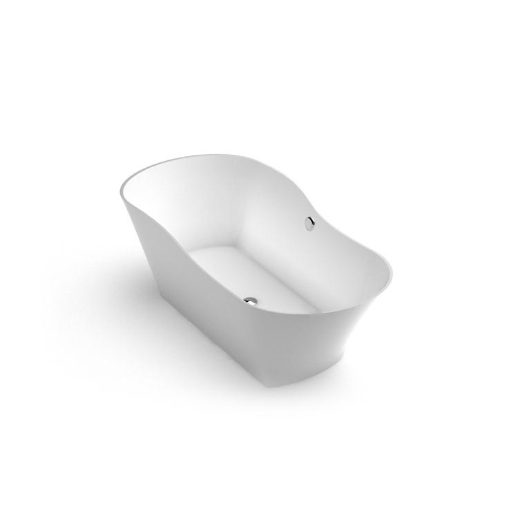 Brīvi stāvoša vanna Amida, Stone cast freestanding bath Amida iso