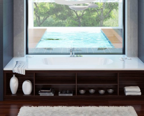 Akmens masas vanna Dafne Individual, Ванна из каменной массы Dafne Individual, Stone cast bathtub Dafne Individual design