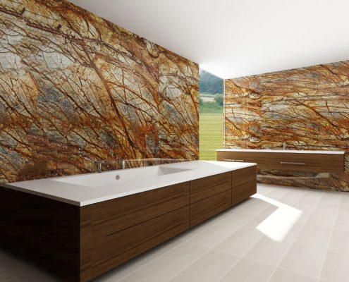 Vannas istabas dizains ar individuāli modificētu vannu: vanna Erunna individual