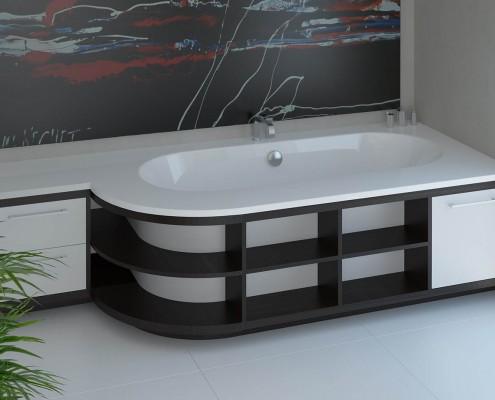 Vannas istabas dizains ar individuāli modificētu vannu Dafne
