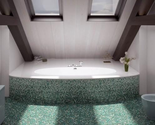 Индивидуальные ванны, Vannas istabas dizains ar individuāli modificētu vannu Estia