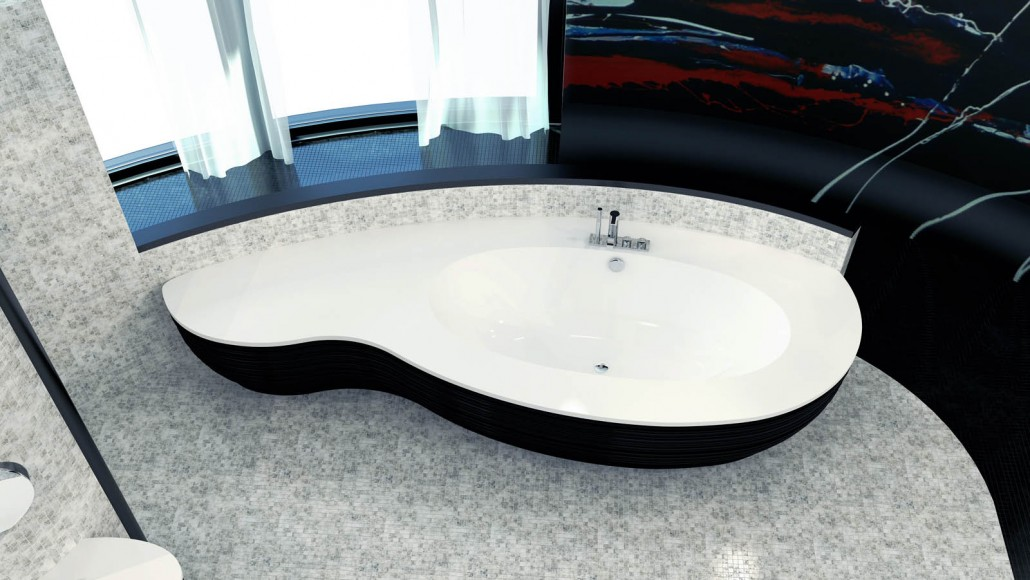 Stone cast individual bathtub Estia