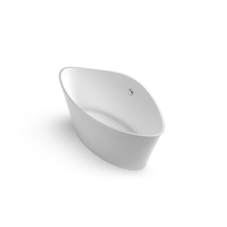 Brīvi stāvoša vanna Iris, Freestanding Stone cast Bath Iris 1 iso