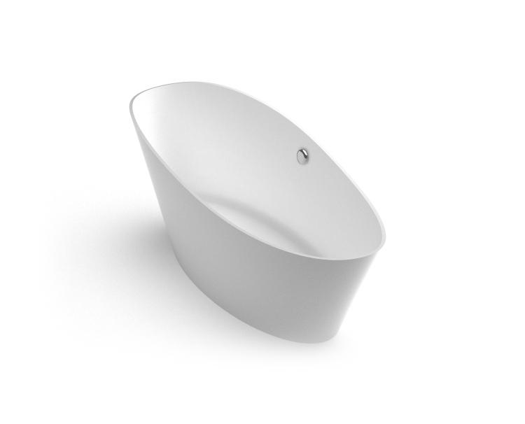 Brīvi stāvoša vanna Luxovio, Freestanding Stone cast Bath Luxovio iso