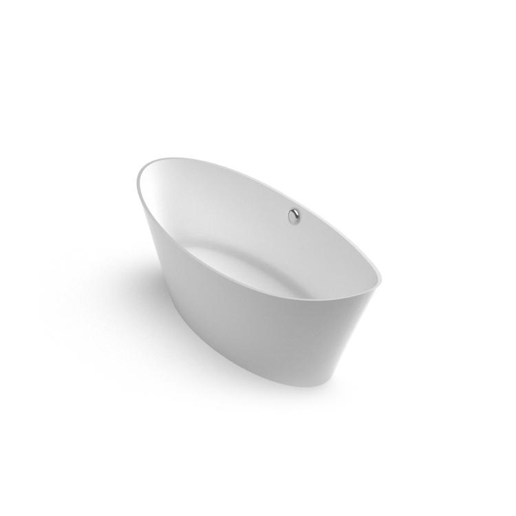 Brīvi stāvoša akmens masas vanna Cleone, Ванна из каменной массы Cleone, Freestanding bath Cleone