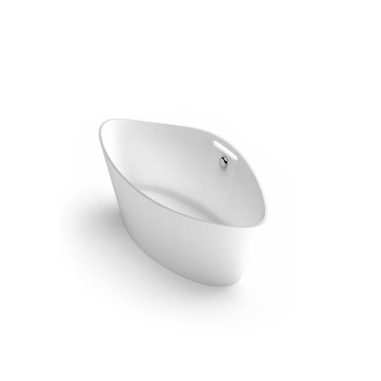 Brīvi stāvoša vanna Iris, freestanding stone cast Bath Iris 2 iso