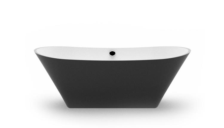 Brīvi stāvoša vanna Belisana, Freestanding bath Belisana bw fr