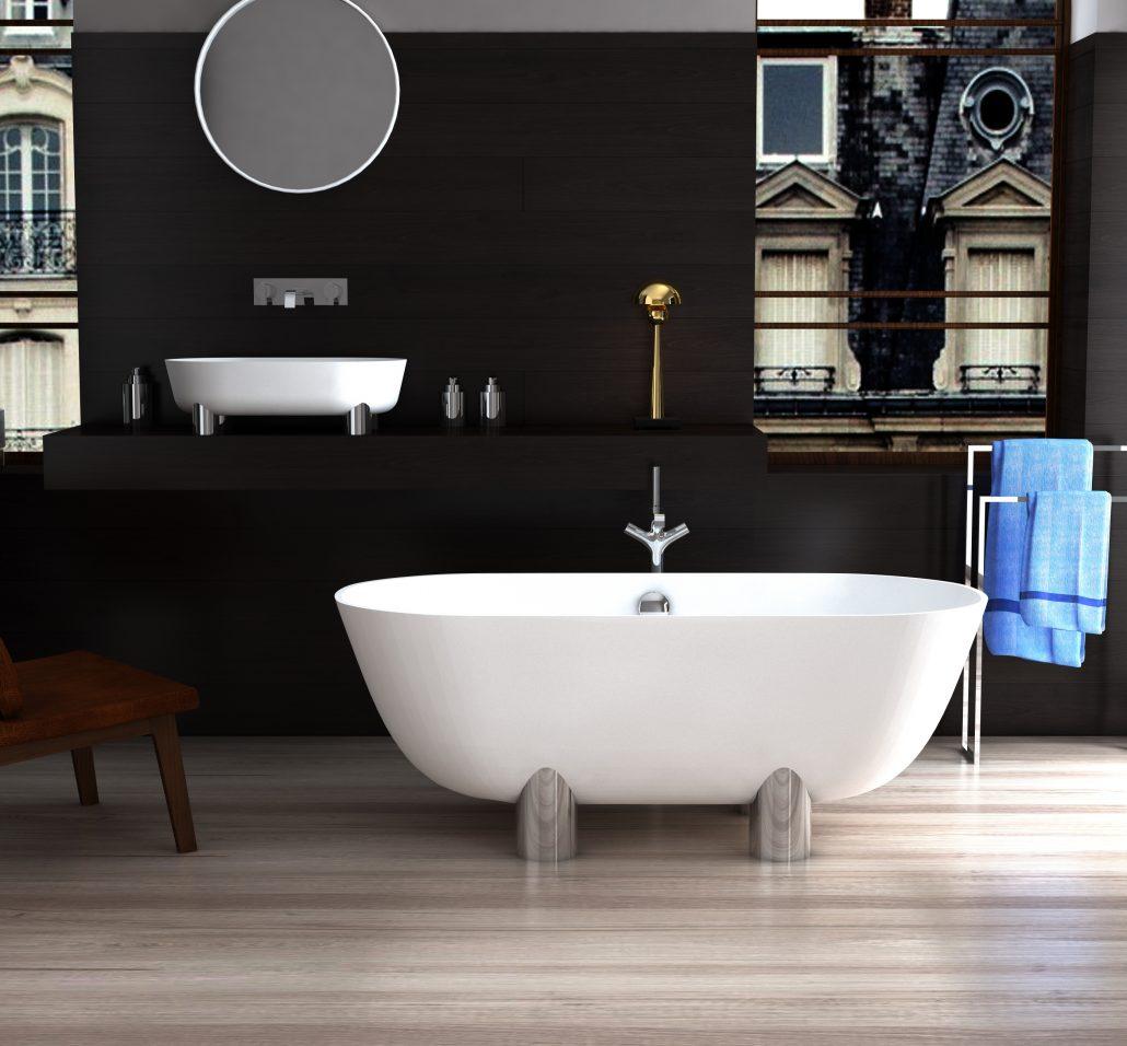 brīvi stāvoša vanna Damona 3