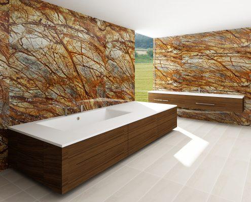 kmens masas vanna Erunna individual, Ванна из каменной массы Erunna individual, Stone cast bathtub Erunna individual