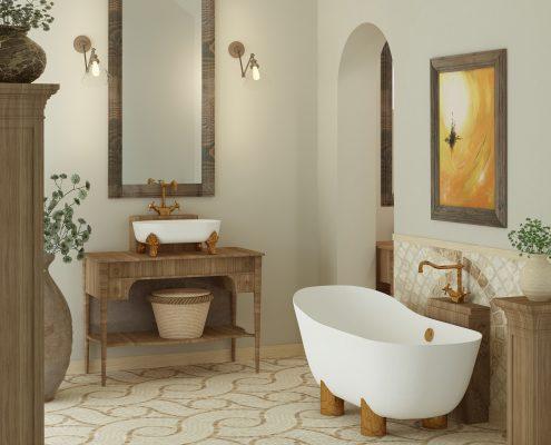 Akmens masas vanna Damona 2, Ванна из каменной массы Damona 2, Stone cast bathtub Damona 2