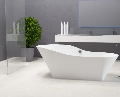 Brīvstāvoša vanna Adeona, Ванна из каменной массы Adeona, Freestanding bathtub Adeona