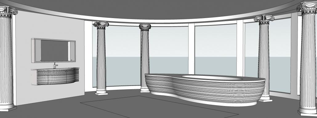 Vannas istabas dizaina veidošana