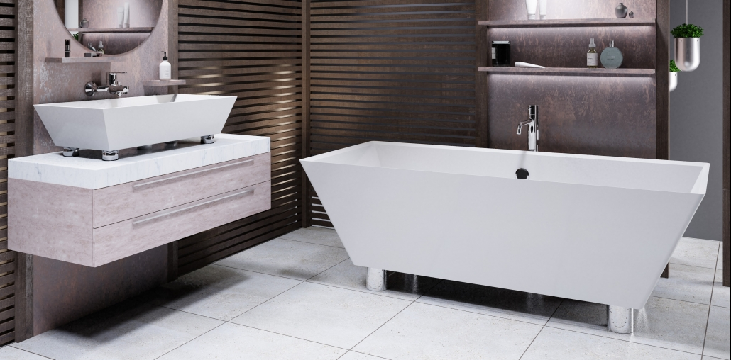 Freestanding bath Doride