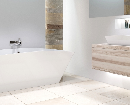 Freestanding cast stone bath Doride