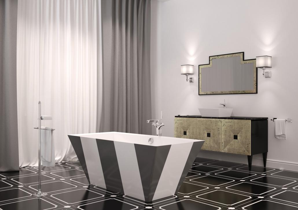 Vannas istabas dizains : Brīvi stāvošas vannas, vanna Erunna individual