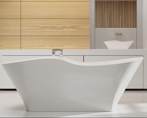 Brīvi stāvoša vanna Amida