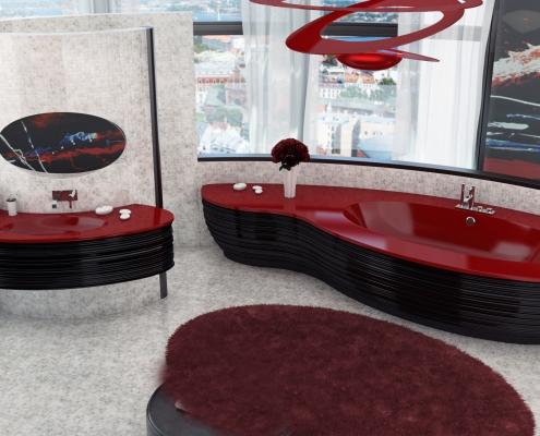 Vannas istabas dizains : Akmens masas vanna Estia individual