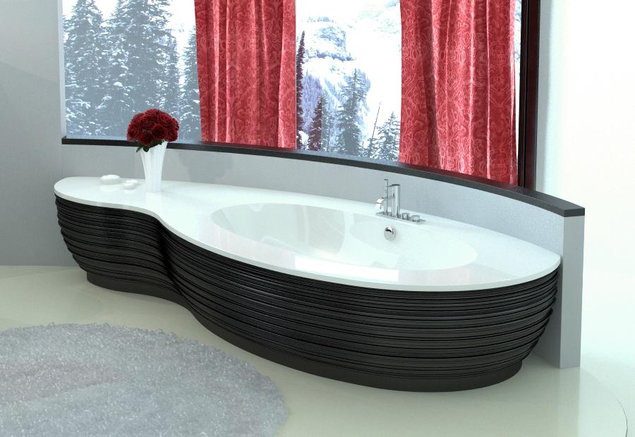 Cast stone individual bathtub Estia