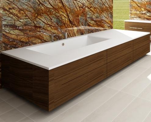 Cast stone Individual bathtub Erunna