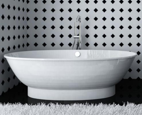 Laisvai pastatomos vonios: vonia Estia