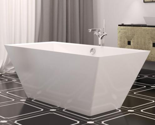 Laisvai pastatomos vonios: vonia Erunna