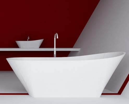Laisvai pastatomos vonios: vonia Calipso